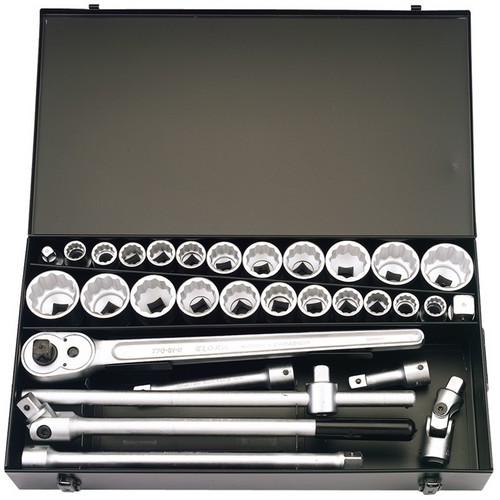 Elora 00335 31 Piece 3/4inch Square Drive Metric And Imperial Socket Set