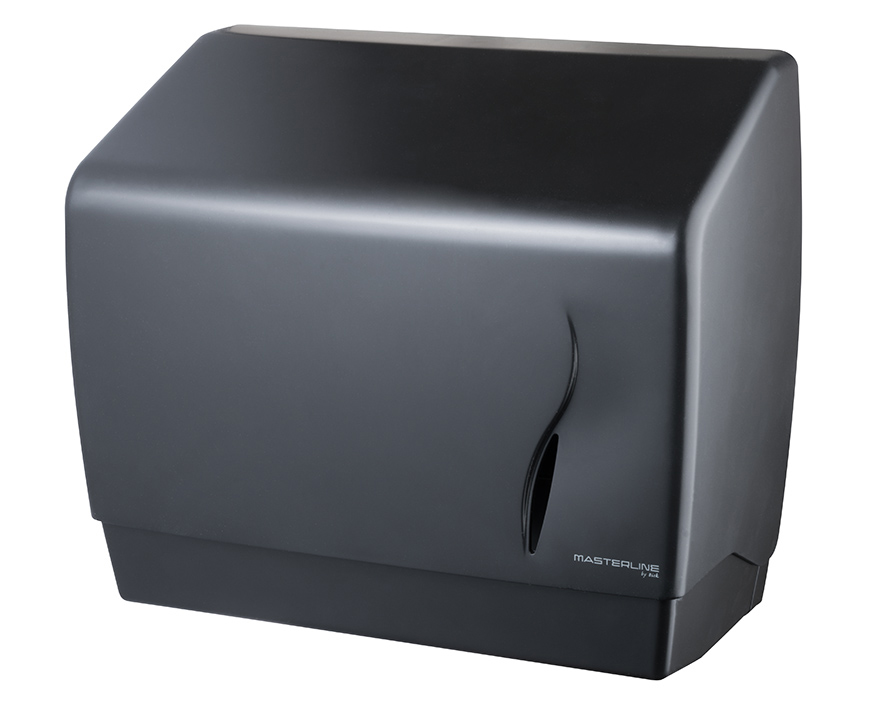 Wall Mounted Bathroom Hand Paper Towel Tissue Dispenser Box Industrial Black ABS