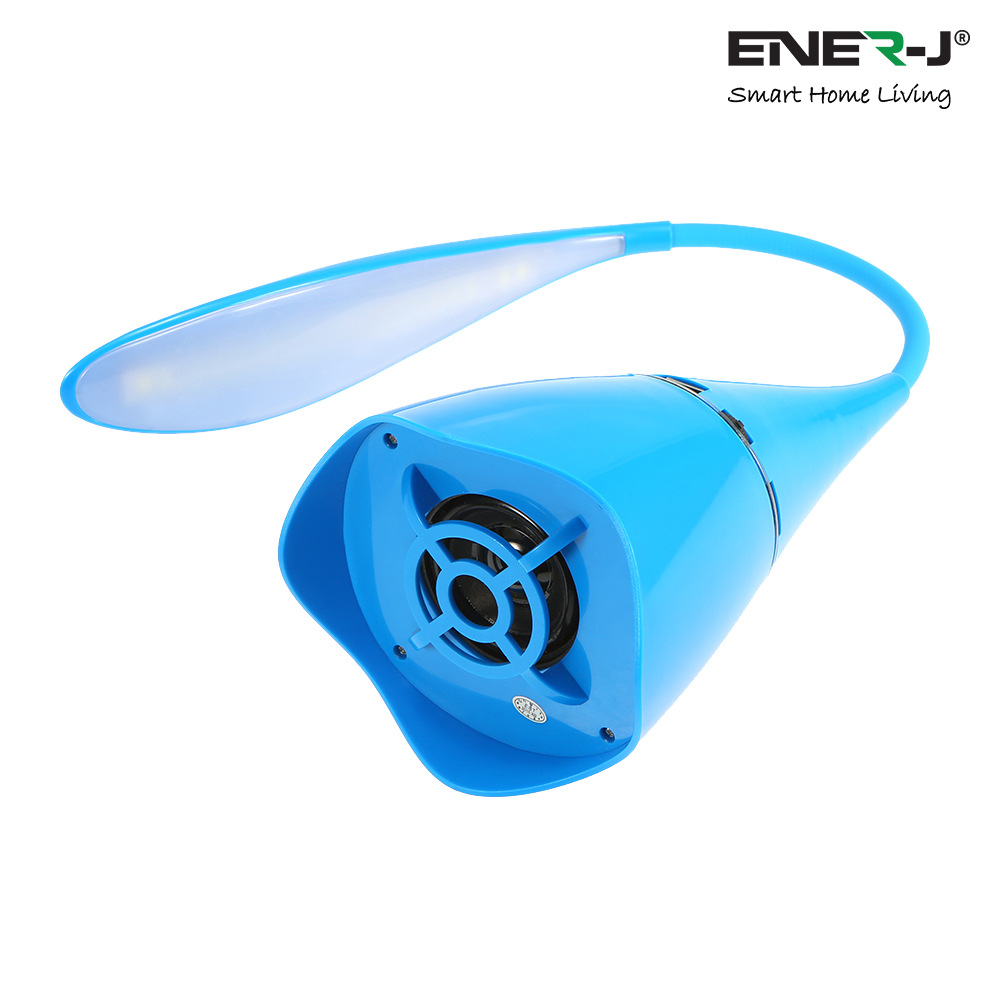 LED Table Lamp with Bluetooth Speaker, BLUE