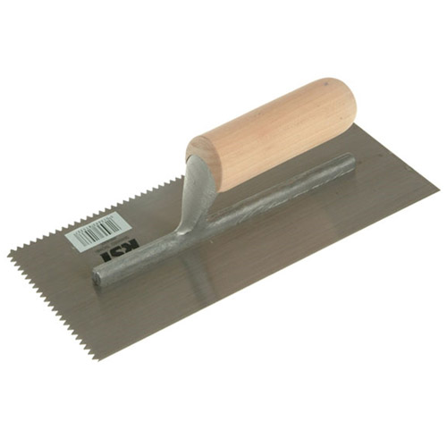 RST RTR153DT V Notched Trowel Wooden Handle 11inch X 4.1/2inch