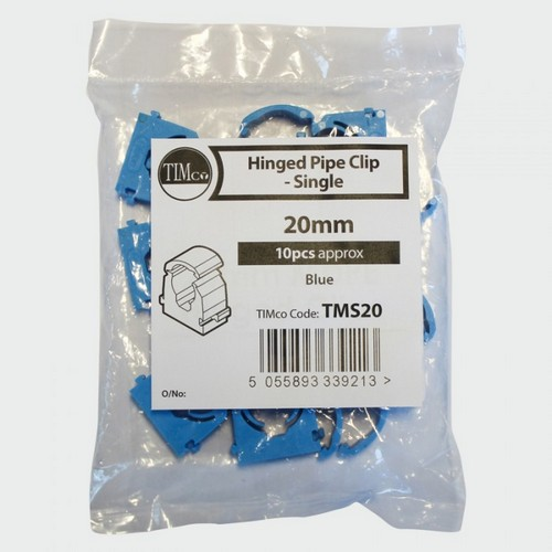 TIMco TMS25 MDPE Pipe Clip 25mm Bag Of 10