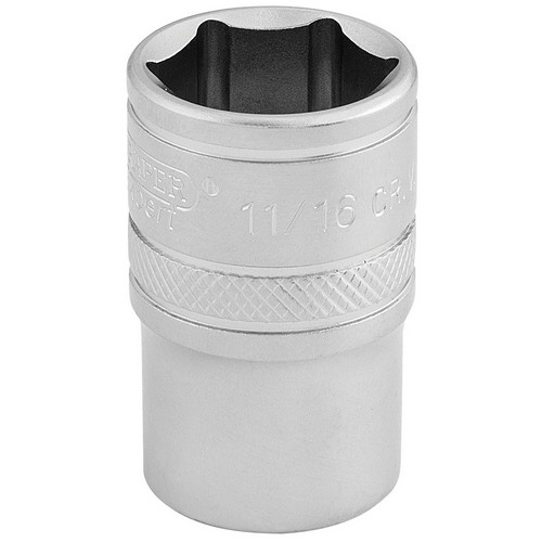 Draper 16630 1/2inch Square Drive 6 Point Imperial Socket (11/16inch)