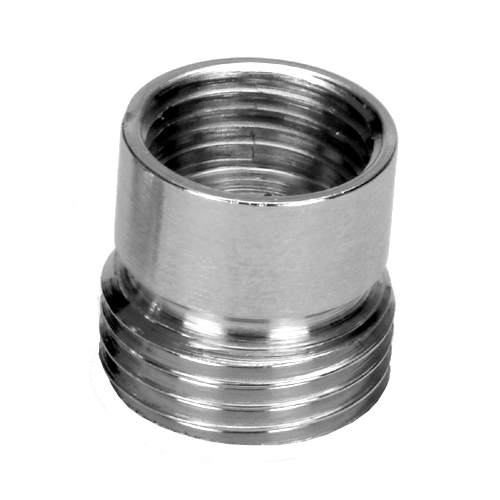 1/2x3/8 Inch Pipe Thread Reduction Male x Female Adaptor Fittings Chrome