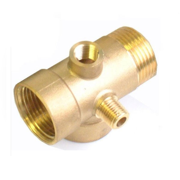 5-Way 1x1/4 Inch Pump Fittings Connector Pressure Check Vessels Gauges
