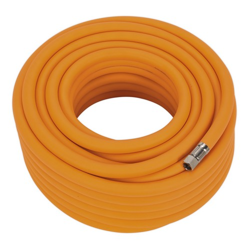 Sealey AHHC2038 Air Hose 20 Metre X 10mm Hybrid High Visibility With 1/4inchBSP Unions