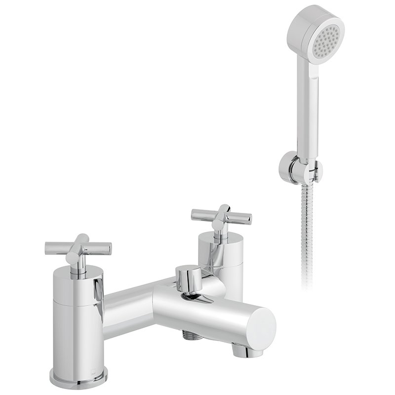 Vado Elements Water 2 Hole Bath Shower Mixer Deck Mounted With