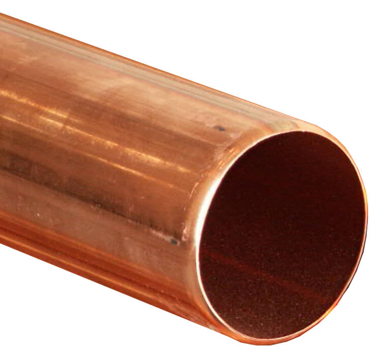 Copper Round Downpipe - 80mm x 2.4mtr Length