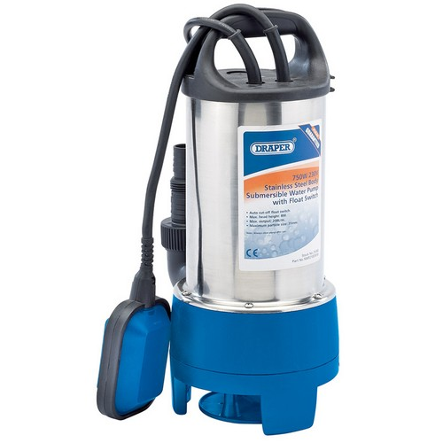 Draper 25360 208L/min 750W 230V Stainless Submersible Dirty Water Pump