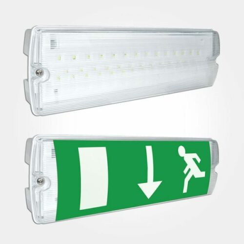 PACK DISCOUNT - IP65 LED EMERGENCY LIGHT BULKHEAD EXIT SIGN MAINTAINED/NON MAINTAINED