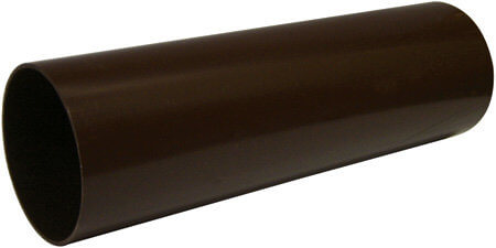 Round Downpipe - 68mm x 4mtr Brown