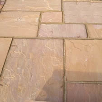 Autumn Brown Indian Sandstone Natural Calibrated Patio Paving Slabs Pack Covers 15.5m2 - 22mm