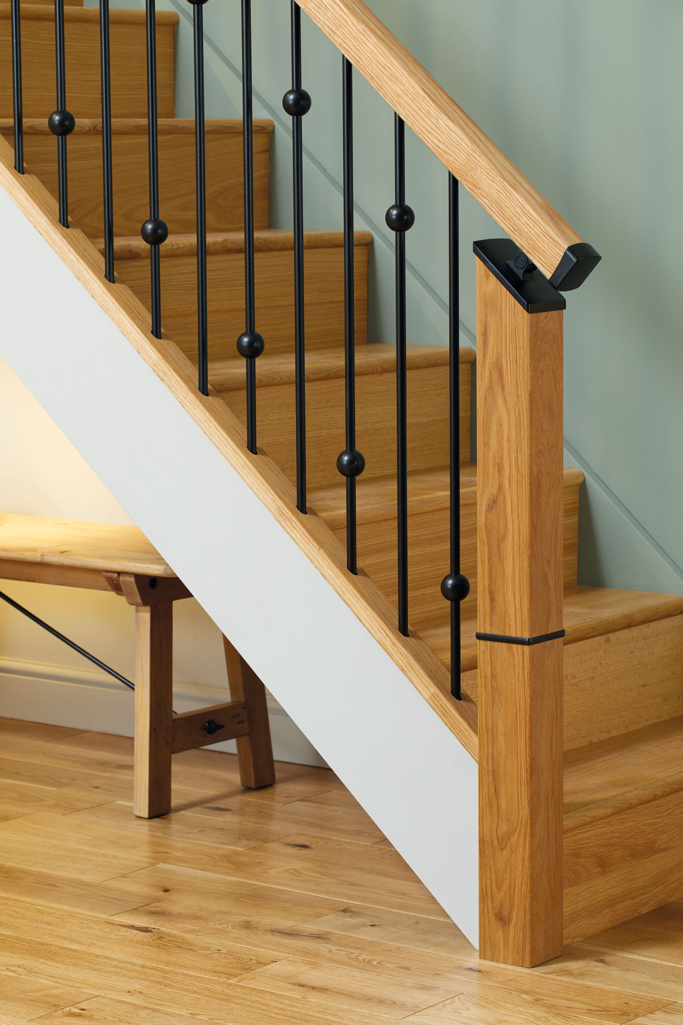 Black Over The Post Connector For Iron Balustrade