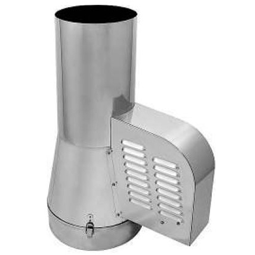 200mm Draught Generator Inlet Pipe Stainless Steel Rotowent