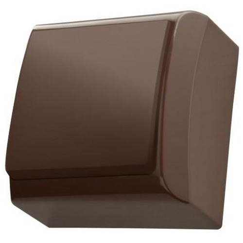 Surface Mounted Single Big Button Indoor Light Switch Click Wall Plate Brown