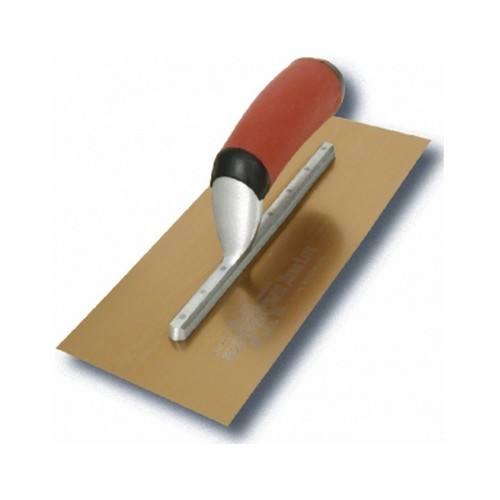 Marshalltown M4467DFD Finishing Trowel 12inch X 5inch Gold Stainless Steel Durasoft Handle