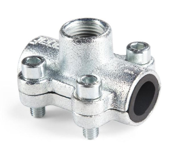 1 Inch Pipe Repair Clamp x 3/4 Inch Side Thread Joint Leak Fix