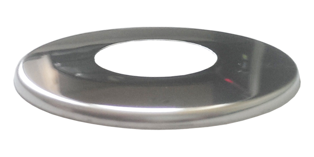 1/2 Inch 21mm Pipe Cover Thin Collar Chrome Plated Stainless Steel