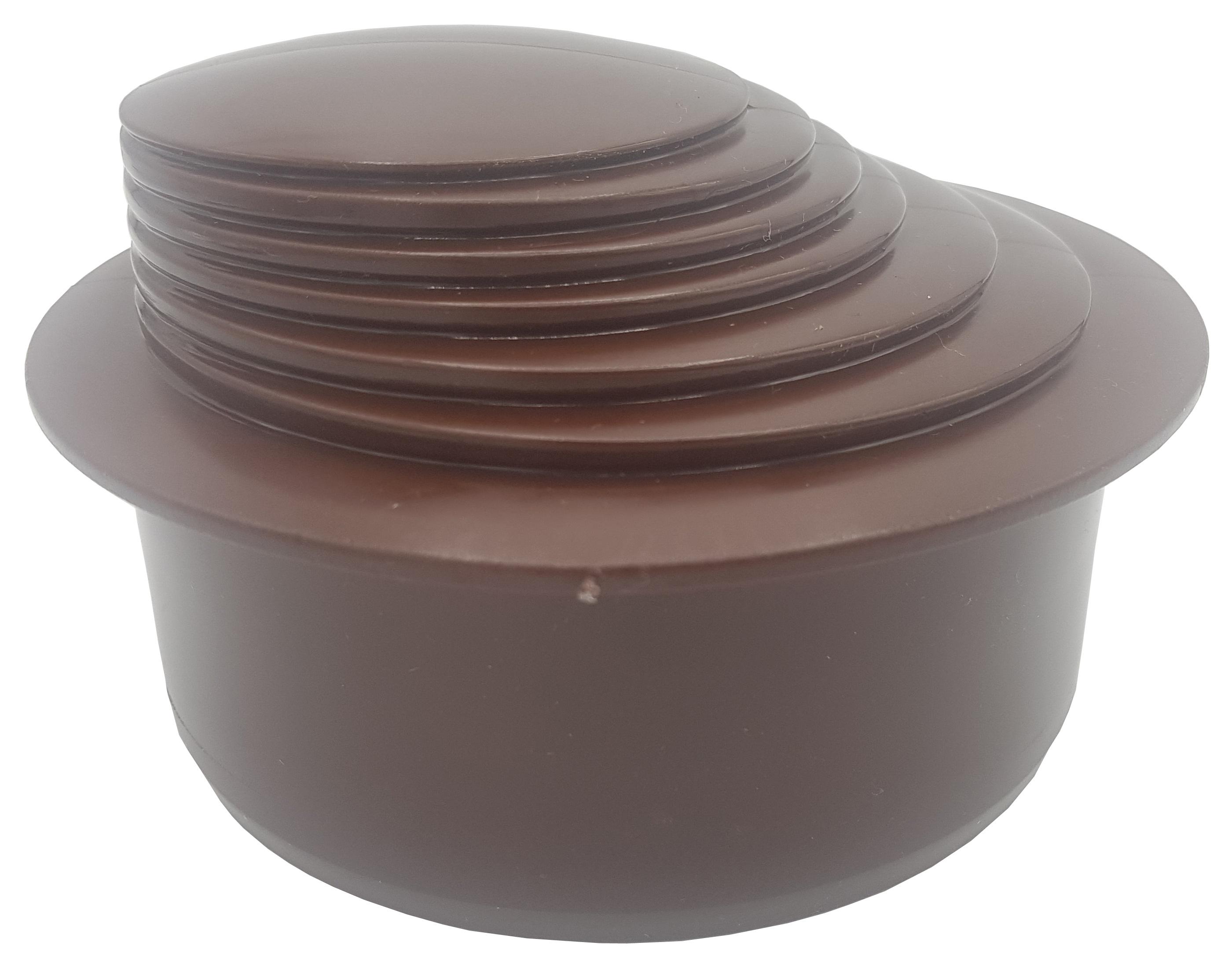 Brown Colour Gutter Down Pipe Reducer 110mm to Any Size Reduction Guttering