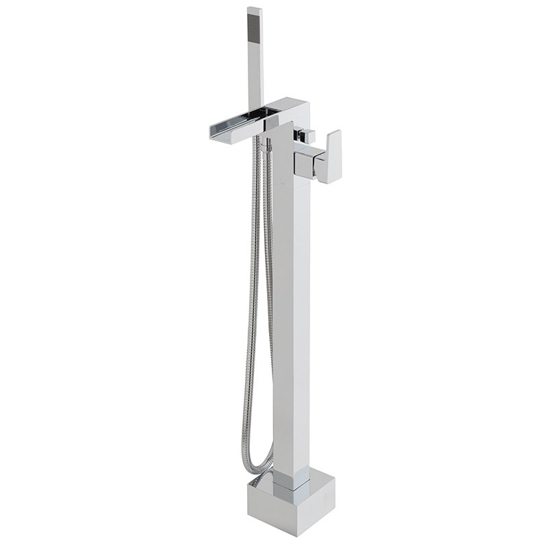 Vado Synergie Bath Shower Mixer Single Lever Floor Mounted With