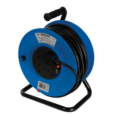 Silverline 934311 Cable Reel 13A 13A 50m 4 Socket