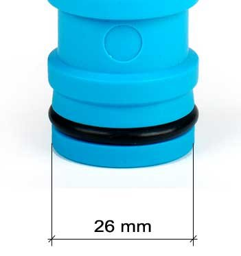1 Inch to 3/4 or 1/2 2-way Connector Hozelock Quick Connect Heavy Duty Hose System Quickfit