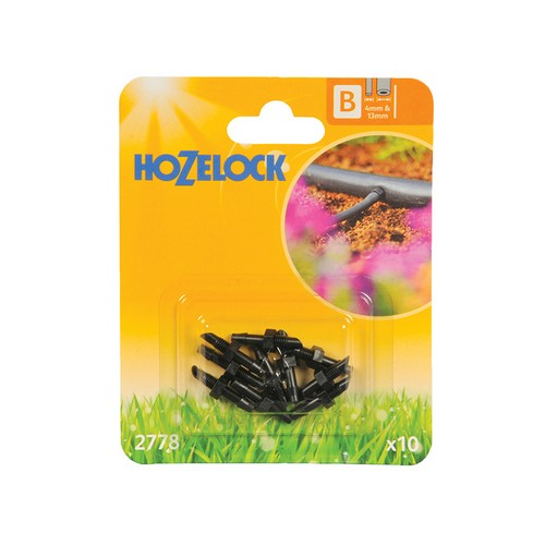 Hozelock 2778 Straight Connector 4mm (10 Pack)