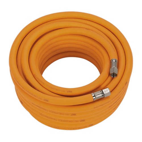Sealey AHHC15 Air Hose 15 Metre X 8mm Hybrid High Visibility With 1/4inchBSP Unions
