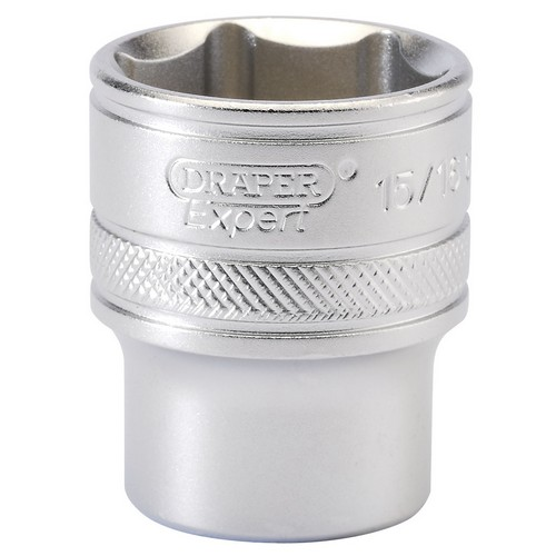Draper 16633 1/2inch Square Drive 6 Point Imperial Socket (15/16inch)