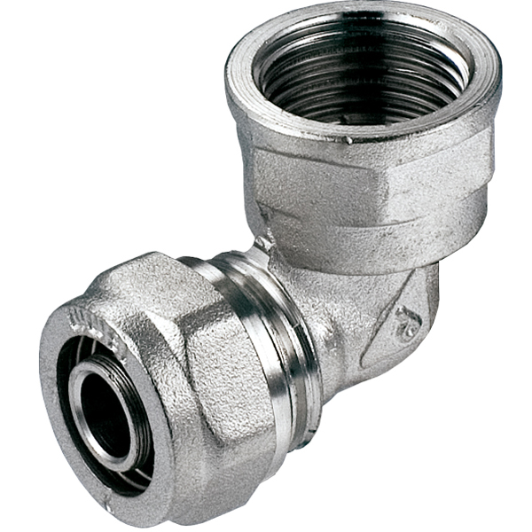 16mm x 1/2 Inch Female PEX Compression Fittings Elbow Pipe Connector