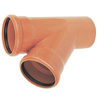 Drainage Junction Double Socket - 45 Degree x 160mm