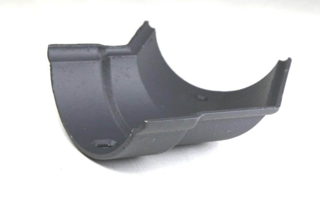 Cast Iron Beaded Half Round Gutter Left Hand Angle - 135 Degree x 125mm Primed
