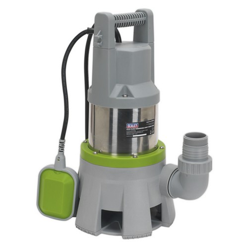 Sealey WPD415 High Flow Submersible Stainless Dirty Water Pump Automatic 417 Litre/min 230V
