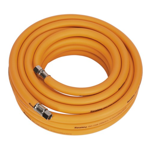 Sealey AHHC1038 Air Hose 10 Metre X 10mm Hybrid High Visibility With 1/4inchBSP Unions