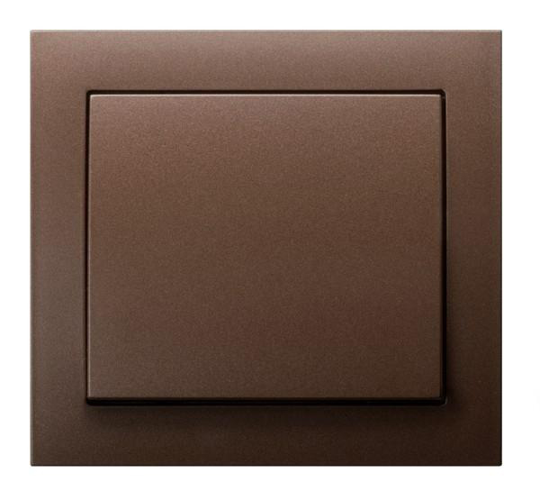 Metallic Brown Single Button Indoor Light Switch Click Wall Plate