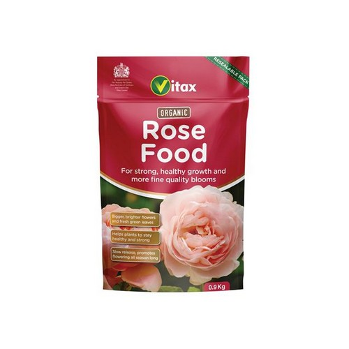 Vitax 6ORF901 Organic Rose Food 0.9kg Pouch