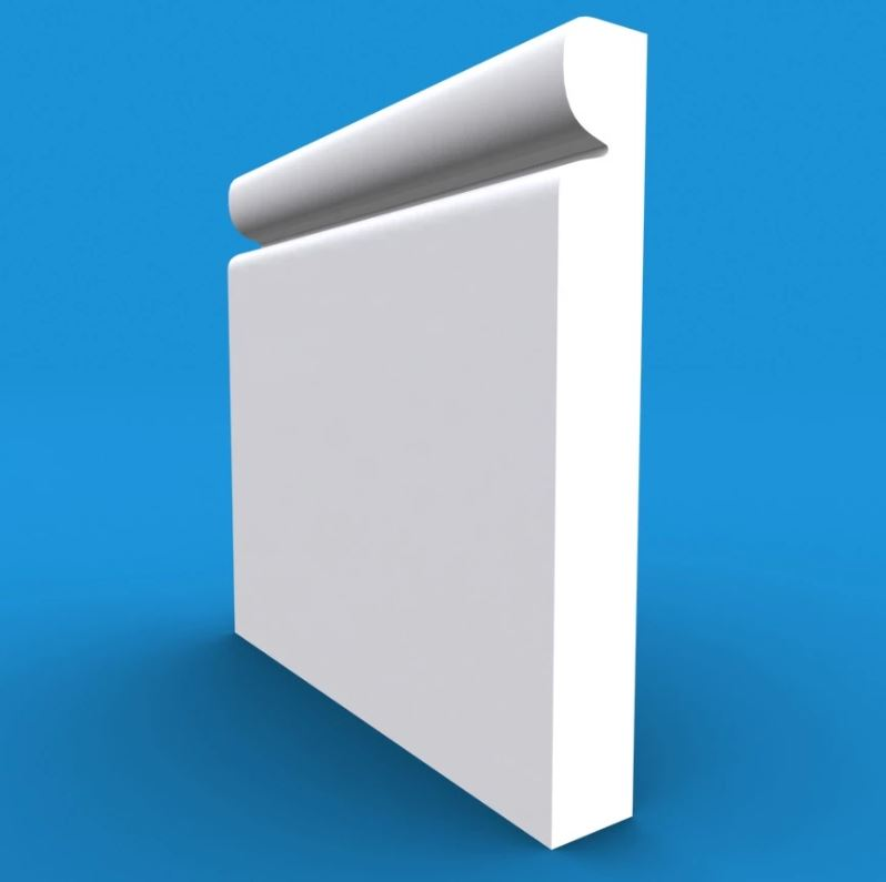 Reveal MDF White Primed Architrave 4200mm x 95mm x 18mm
