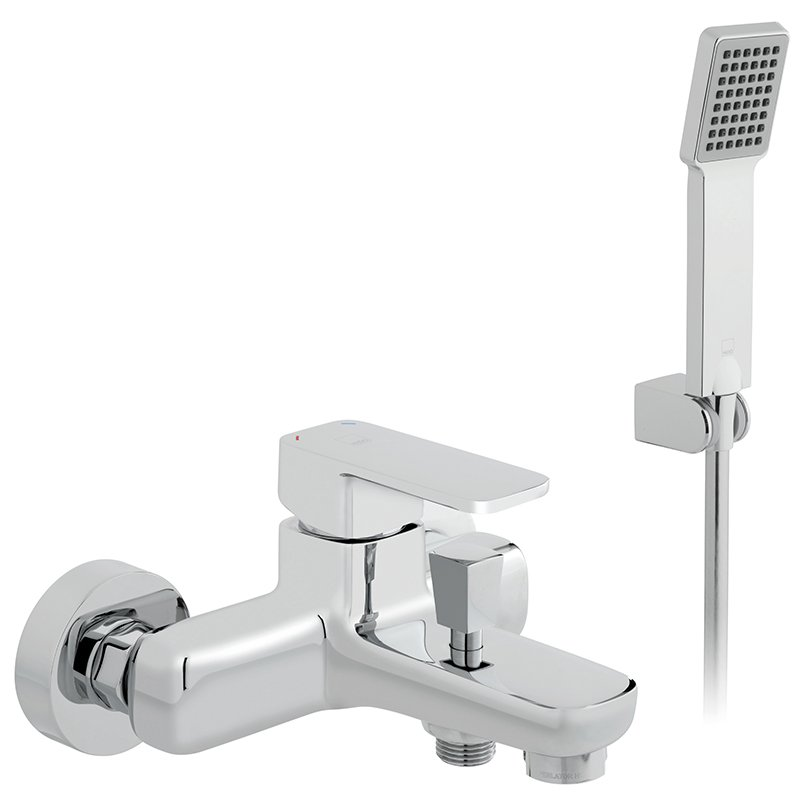 Vado Phase Exposed Bath Shower Mixer Single Lever Wall Mounted