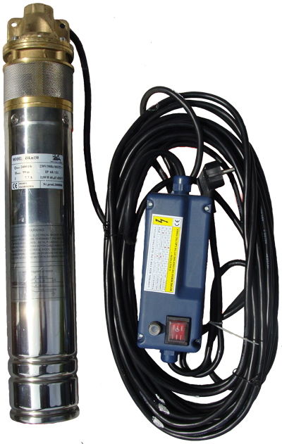 1100W Electric Deep Well Water Pump Submersible Borehole Garden Ponds