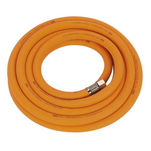 Sealey AHHC538 Air Hose 5 Metre X 10mm Hybrid High Visibility With 1/4inchBSP Unions