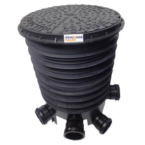 Inspection Chamber Complete Set With Polypropylene Cover - 450mm Diameter For 110mm Drainage
