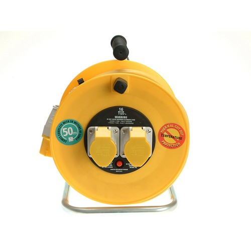 Masterplug LVCT5016/2-MP Cable Reel 50 Metre 16A 110 Volt Thermal Cut-Out