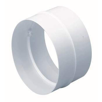 Easipipe Round Ventilation Duct Straight Connector - 125mm
