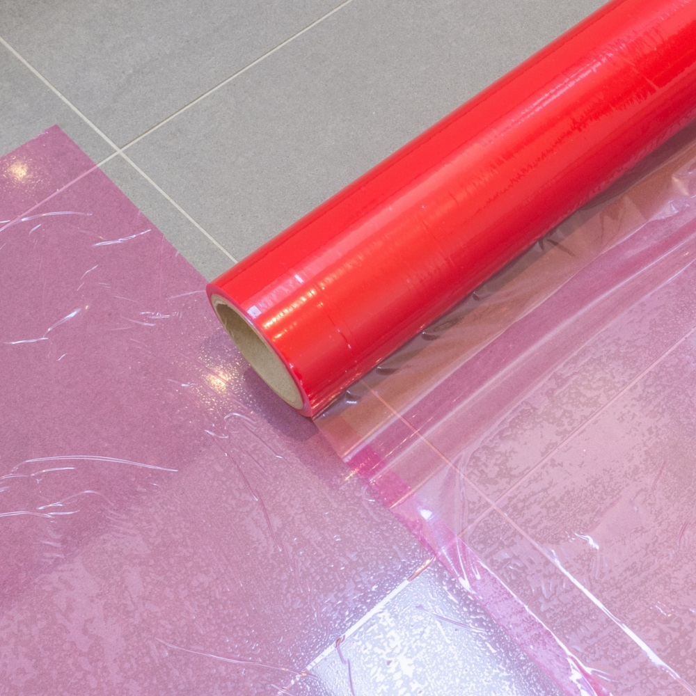 Multi Use Red Adhesive Surface Protection Roll 50m x 600mm