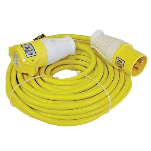 Faithfull FPPTL14HDUTY Trailing Lead 14 Metre 1750w 16 Amp 2.5mm Cable 110 Volt