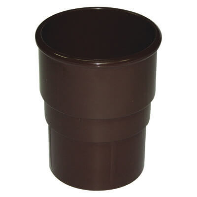 Round Downpipe Socket - 68mm Brown