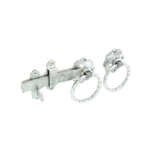 Securit S4738 Twisted Ring Gate Latch Galvanised 150mm
