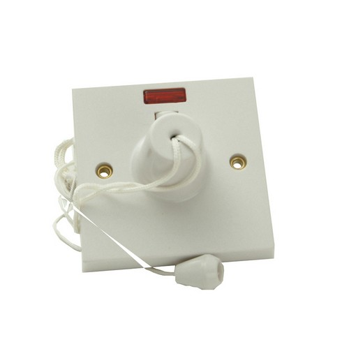 SMJ W45CSC Ceiling Switch & Neon 45A Double Pole
