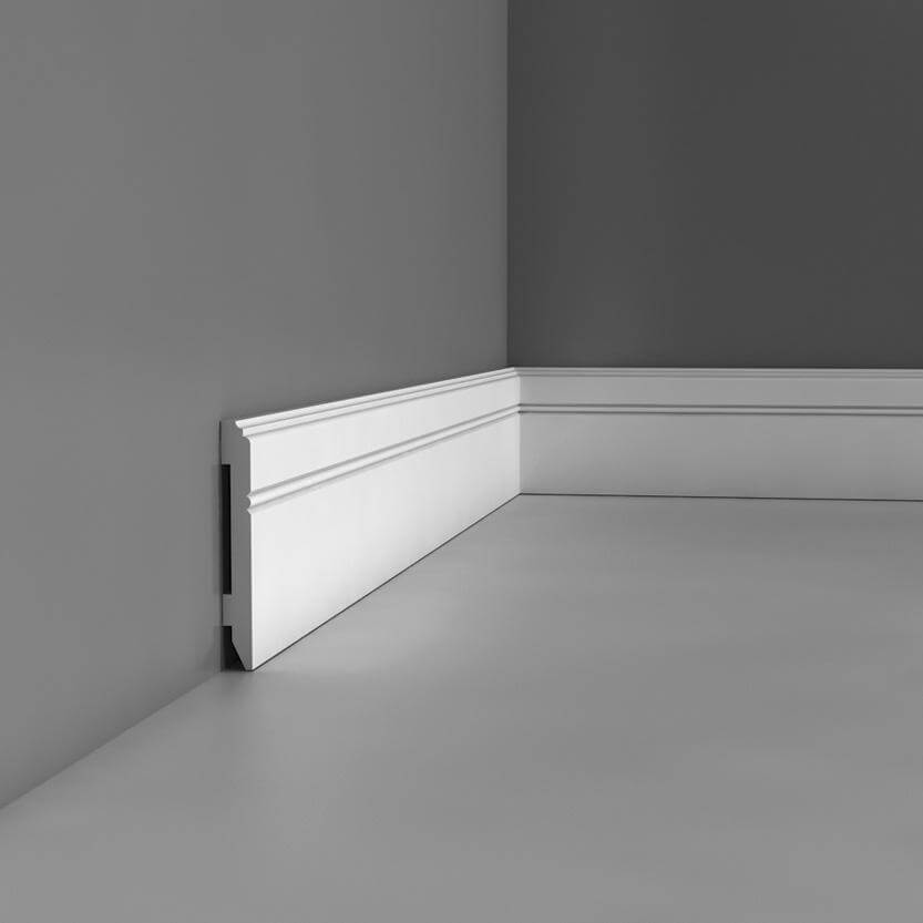 Flexible Skirting Luxxus Collection - 2000mm x 110mm x 13mm White