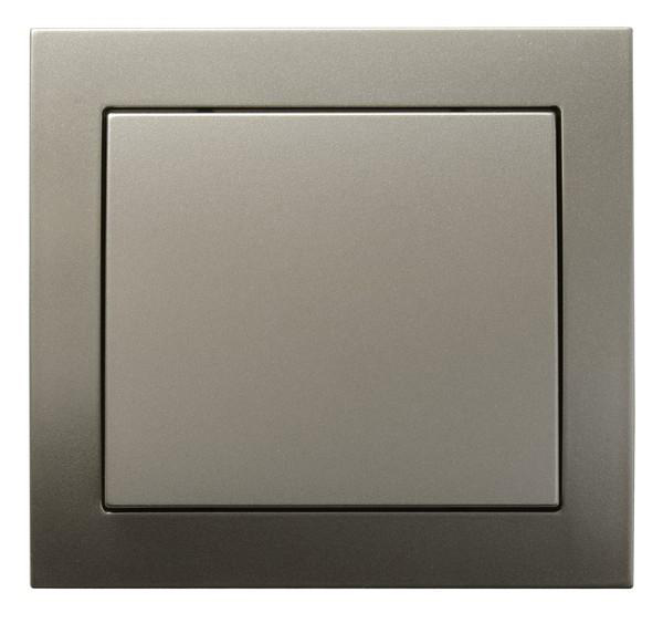 Light Satin Single Button Indoor Light Switch Click Wall Plate