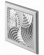 150x150mm Wall Ventilation Grille Cover With Net and Shutter Modern Design